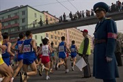 Người nước ngoài thi chạy maratông tại Bình Nhưỡng
