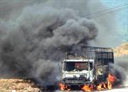 Quảng Bình: Xe tải đang chạy bỗng nhiên bốc cháy