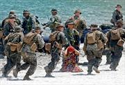 Lính Mỹ, Philippines tập tấn công đổ bộ trên Biển Đông