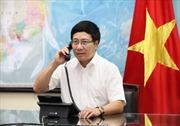 Phó Thủ tướng Phạm Bình Minh điện đàm với Đại diện Cấp cao EU