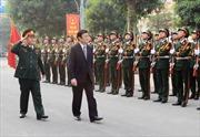 Chủ tịch nước Trương Tấn Sang thăm Bộ Tư lệnh Thủ đô Hà Nội