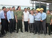 Đại tướng Trần Đại Quang thăm, làm việc tại Hà Tĩnh