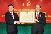 Đồng chí Nguyễn Văn Chi nhận Huân chương Hồ Chí Minh