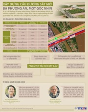 Xây dựng cầu đường sắt mới: Ba phương án, một góc nhìn