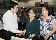 Chủ tịch nước Trương Tấn Sang tiếp xúc cử tri