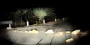 Xếp đá ngang đường trên quốc lộ 4D