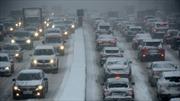 Bão tuyết vùi trắng Moskva ngày Giáng sinh