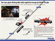 Đồ họa vụ tai nạn xe khách thảm khốc tại Bình Thuận