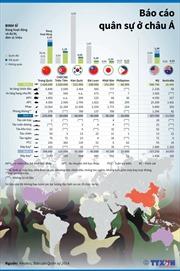 Số lượng binh sĩ và vũ khí ở châu Á