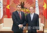 Chủ tịch Quốc hội Nguyễn Sinh Hùng tiếp Chủ tịch và Tổng thư ký IPU