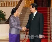 Thủ tướng Nguyễn Tấn Dũng tiếp Chủ tịch Quốc hội Lào
