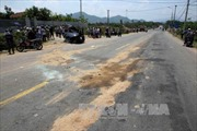 Ô tô tông xe máy khi vào cua, 1 người chết tại chỗ