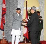 Đại sứ Tôn Sinh Thành trình Quốc thư tại Nepal