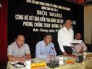 Công bố kết quả kiểm tra giám sát chống tham nhũng tại Bắc Giang
