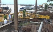 Sập cần cẩu tại Đồng Tháp, 2 công nhân tử vong