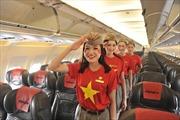 Vietjet 'diện' đồng phục cờ đỏ sao vàng mừng Quốc khánh
