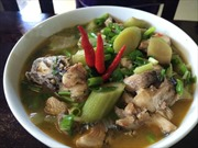 Canh chột nưa nấu cá lóc đồng
