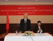 Tổng Bí thư gặp mặt cán bộ Đại sứ quán và bà con Việt kiều tại Nhật
