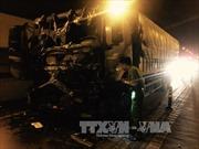 Xe tải cháy đen trong hầm đường bộ Hải Vân