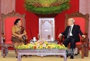 Tổng Bí thư tiếp đoàn Ban Đối ngoại Trung ương Đảng CNDM Lào