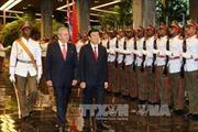Chủ tịch nước Trương Tấn Sang hội đàm với Chủ tịch Cuba