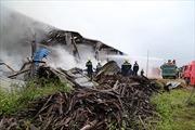Cháy lớn tại xưởng gỗ trong khu công nghiệp Nam Đông Hà