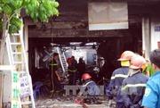 Cháy lớn gây ùn tắc giao thông Cà Mau