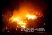 Cháy chợ đông người Việt làm ăn ở Kharkov, Ukraine