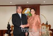 Đồng chí Lê Hồng Anh thăm các nguyên lãnh đạo cấp cao Lào
