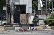 Hiện trường đánh bom liều chết và quăng lựu đạn tại Jakarta