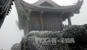 Băng giá phủ trắng núi Yên Tử, Quảng Ninh