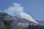 Khống chế đám cháy tại Vườn quốc gia Hoàng Liên