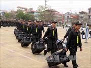 Công an Điện Biên ra quân bảo vệ bầu cử Quốc hội khóa XIV