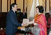 Chủ tịch nước Trương Tấn Sang tiếp Đại sứ Ấn Độ chào từ biệt