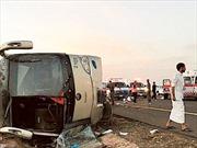 Lật xe buýt ở Saudi Arabia, ít nhất 19 người thiệt mạng