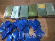 Phối hợp an ninh Lào bắt vụ tàng trữ 20 bánh heroin