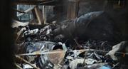 Su-25 Nga rơi trúng vườn nhà, 50 con gà chết cháy