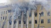 Hỏa hoạn lớn tại trụ sở Bộ Quốc phòng Nga