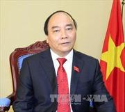 Thủ tướng Nguyễn Xuân Phúc trả lời phỏng vấn trước khi phát biểu tại Đại hội đồng Liên hợp quốc