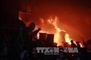 Cháy lớn tại phố Lê Đức Thọ, Hà Nội