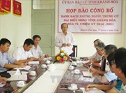 Công bố danh sách đại biểu HĐND tỉnh Khánh Hòa