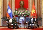 Chủ tịch nước Trần Đại Quang tiếp Bộ trưởng Quốc phòng Lào
