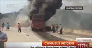 Trung Quốc: Cháy xe chở khách, 30 người thiệt mạng