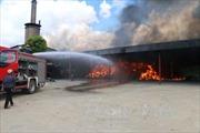 Xưởng điều cháy rụi trong đêm