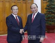Thủ tướng tiếp Phó Thủ tướng, Bộ trưởng Tài chính Lào