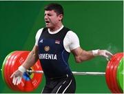 Hãi hùng pha trật ngược khuỷu tay khi thi đấu của VĐV cử tạ Armenia