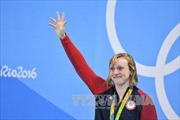 """""""Quái vật"""" Katie Ledecky: 19 tuổi và 13 kỷ lục bơi lội"""