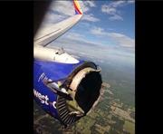Động cơ máy bay Mỹ nổ, vỡ vụn trên không