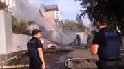 Kênh truyền hình Ukraine bị đốt phá ngay giữa thủ đô