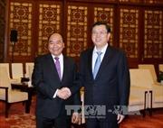 Thủ tướng Nguyễn Xuân Phúc hội kiến Ủy viên trưởng Trương Đức Giang